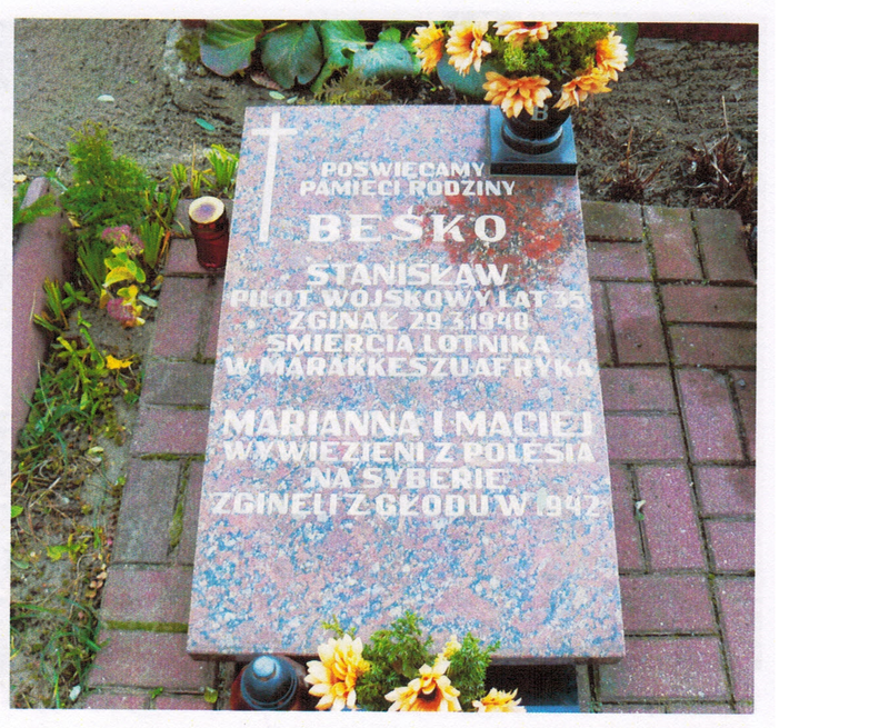 Symbolic grave of Besko family in Bydgoszcz
