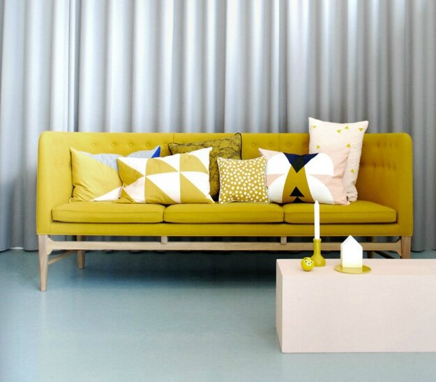 ferm-living-yellow-sofa-graphic-cushions