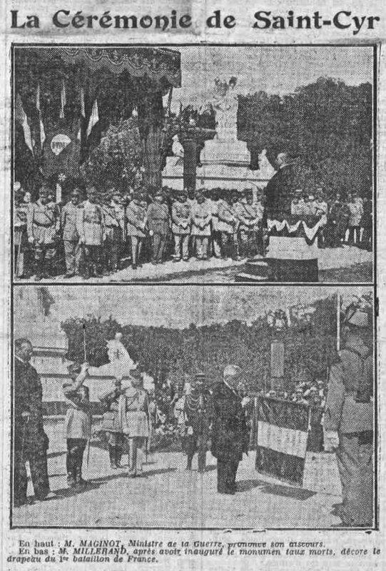 Saint-Cyr ESM (5) Le Petit Courrier mardi 23 mai 1922