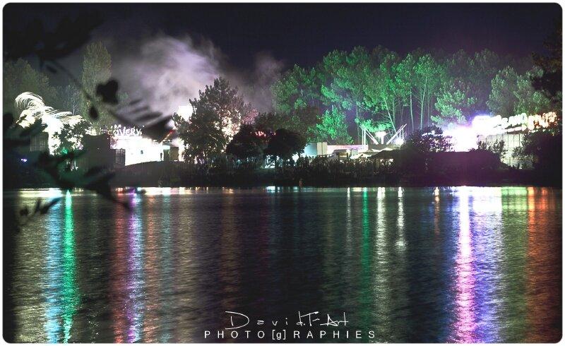 tombée de soirée sur le lac de la magdelaine