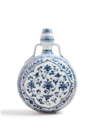 An_Exceptionally_Rare_Blue_and_White_Moonflask