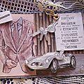 Série cartes masculines sur les voitures anciennes