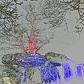 Arbres colorés à la roche-aux-fées par essé (ille-et-vilaine) le 21 décembre 2017 (3)