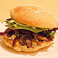 Burger vgtarien & light aux champignons
