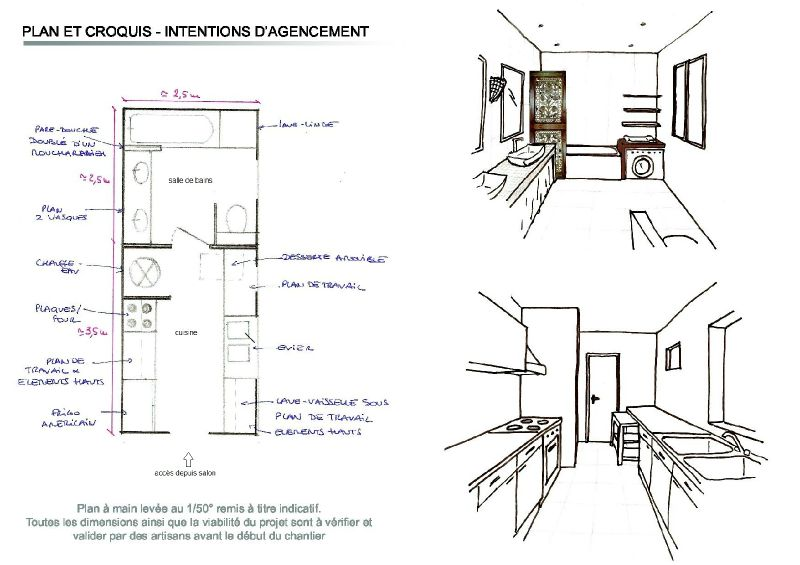 Plan 2 apr s photo de conseil en agencement salle de - Plan amenagement salle de bain ...