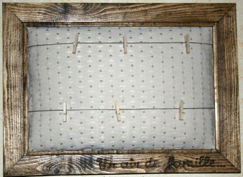 P le m le en bois effet fil linge avec 40 pinces 76 for Guirlande porte photo avec pinces linge