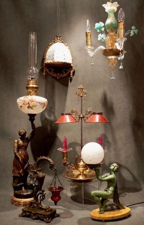 LAMPE_LUSTRE_MURANO_ART_DECO_ART_NOUVEAU_HUILE_PETROLE_BOUILLOTTE_EMPIRE