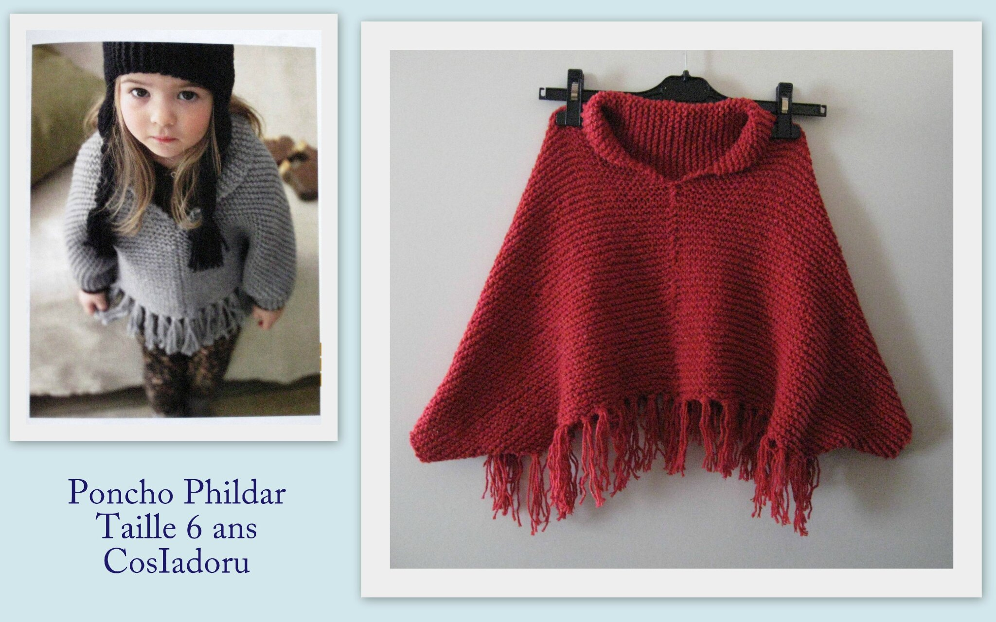 phildar poncho fille