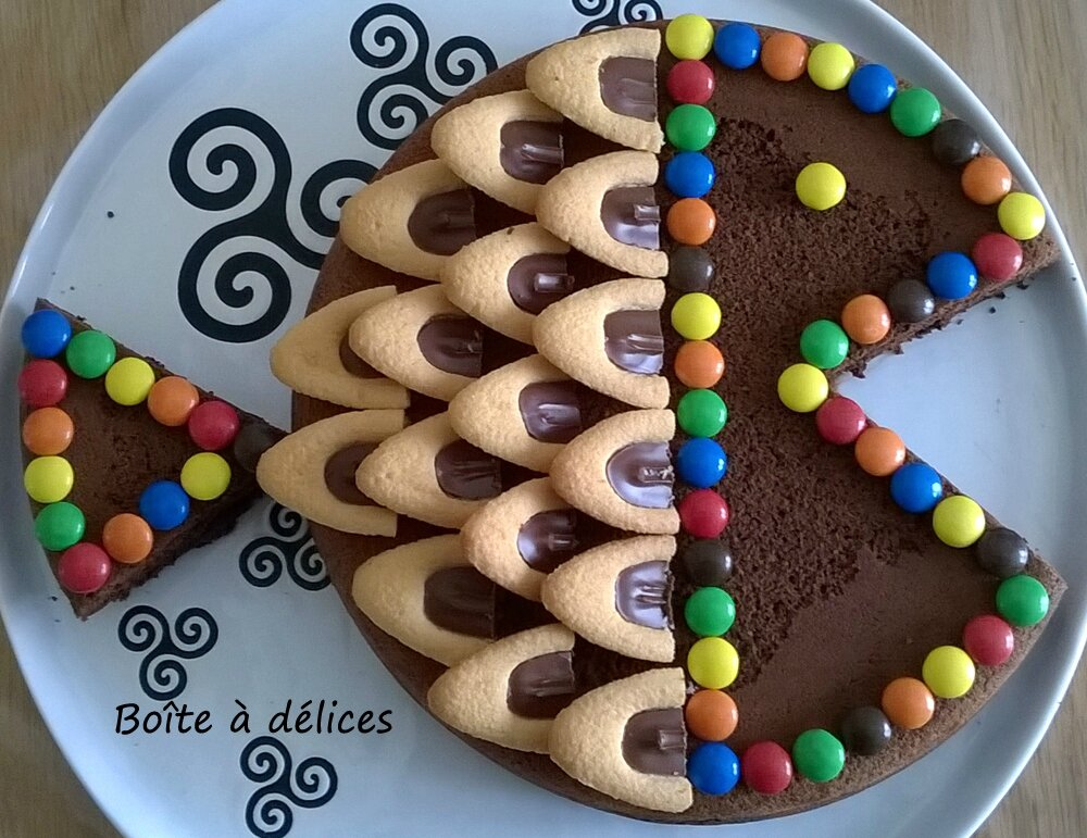 Gateau au chocolat forme poisson