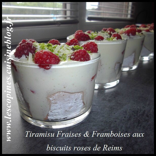 tiramisu aux biscuits roses de reims et fraises secrets culinaires g teaux et p tisseries blog. Black Bedroom Furniture Sets. Home Design Ideas