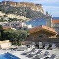 vue de la terrasse de la chambre: hotel best western