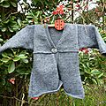 cardigan trapze gris
