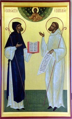 Saint Bernard et Saint Benoît