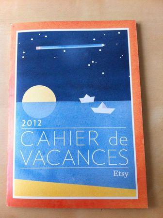 cahier de vacances etsy