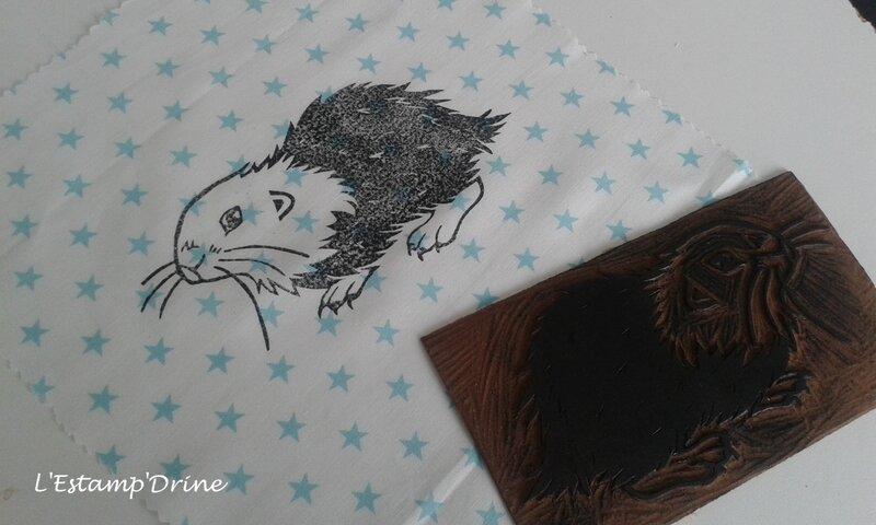 impression linogravure marmotte