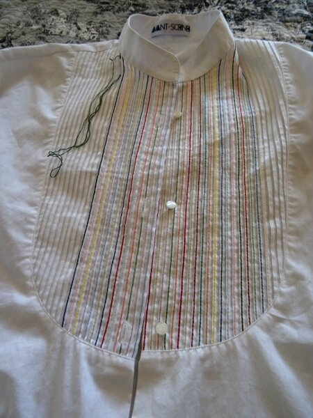 Plastron chemise blanche