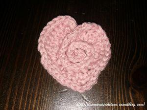 Coeur de rose 01 Crochet tuto