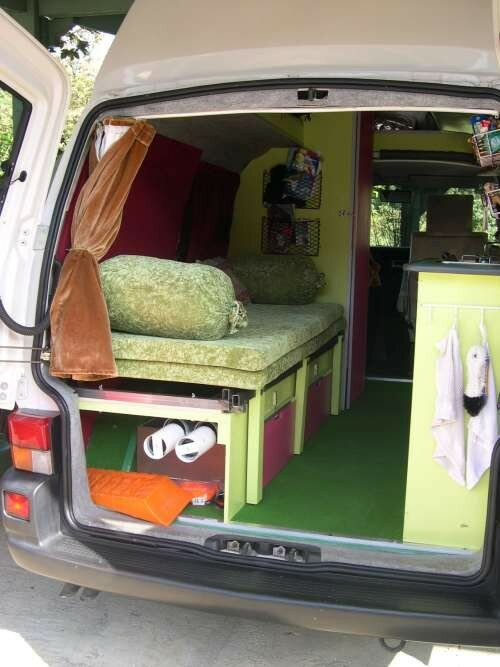 lit 2 places repli combi volkswagen transporter t4. Black Bedroom Furniture Sets. Home Design Ideas