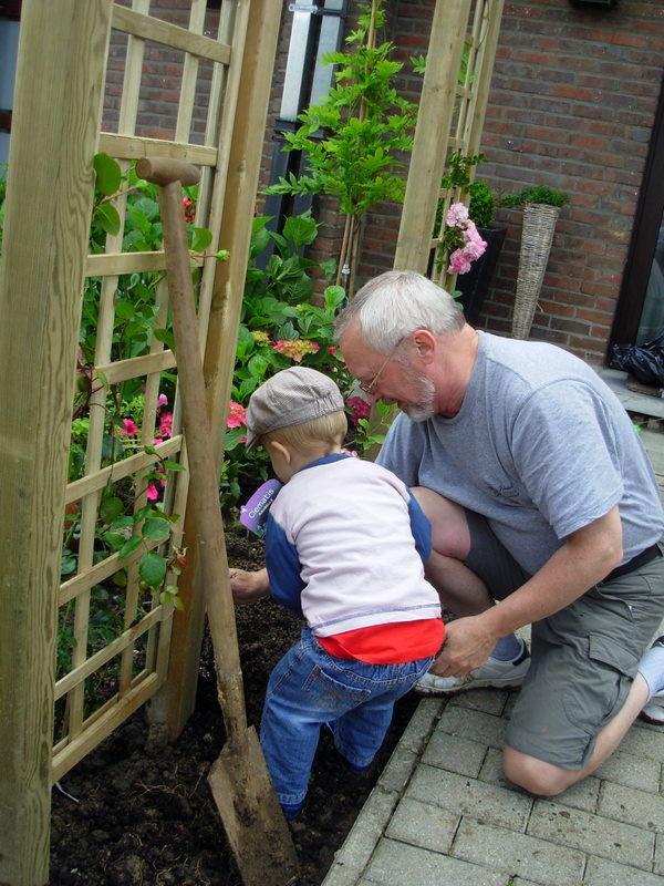 Arthur jardinier-sa première plantation