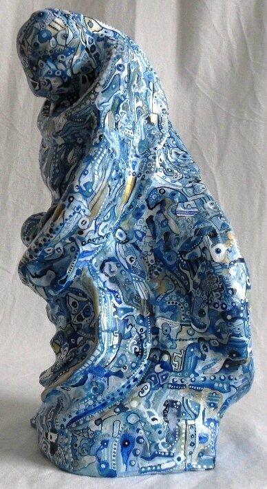 Hervé THAREL SCHMIMBLOCK'S eva maria 2015 - acrylique sur argile 30x19,5cm 3