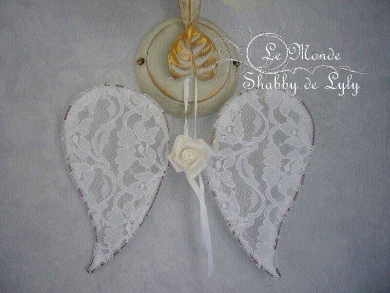 Ailes ange blanche + fleur