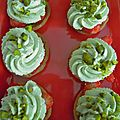Mini tartelettes aux fraises - crème mascarpone à la pistache