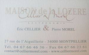Cellier & Morel Carte de visite J&W