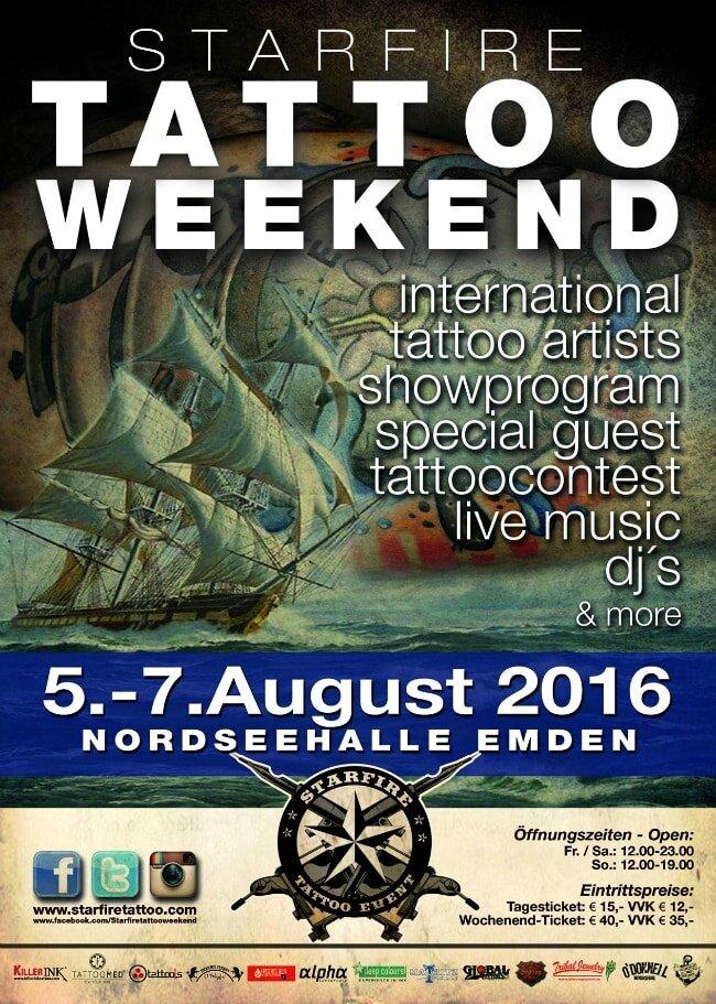 Starfire Tattoo Weekend Emden 5 à 7 Août 2016
