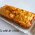 Cake  la tomme de brebis/chvre , lardons et tomates confites