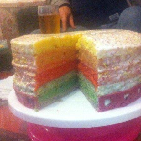 Le rainbow-cake de Nathalie