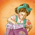 jeune fille gourmande