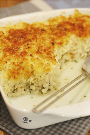 Gratin poisson blanc & chou-fleur_1