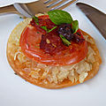 Tarte fine aux oignons ,tomates et chorizo sans gluten