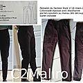 Pantalon chocolat noir