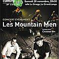 Concert des mountain men le samedi 28/11/2015