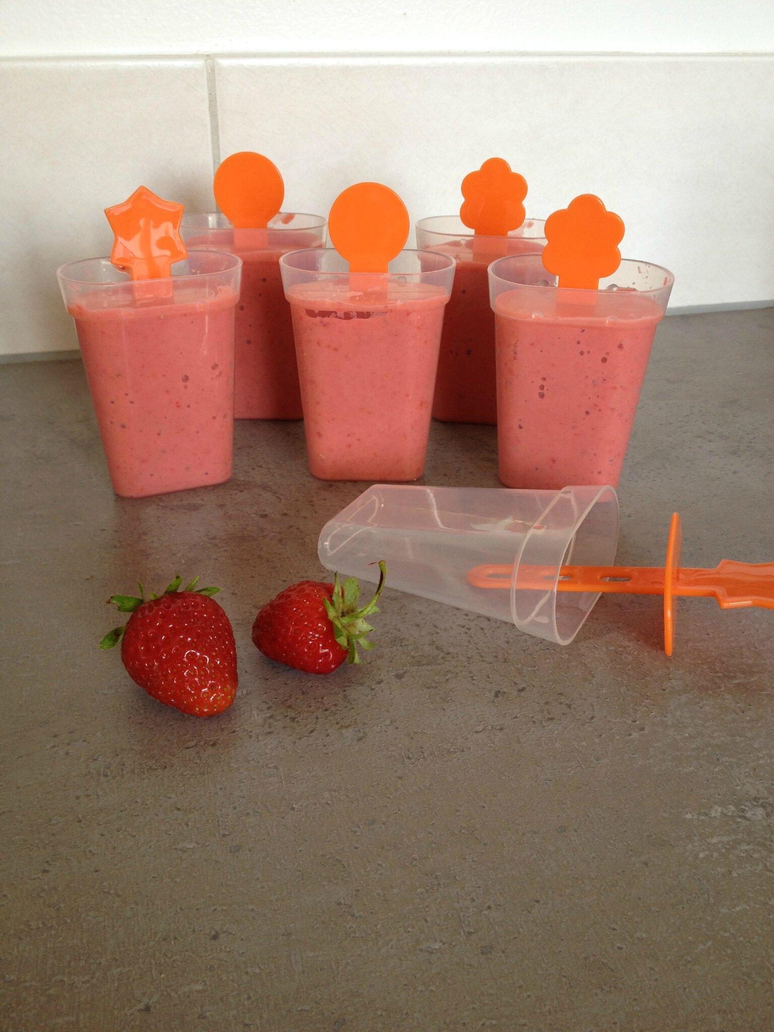 Glace à la fraise, sans PLV et sans sorbetière