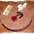 Mousses fruits rouges et chocolat des 30 ans