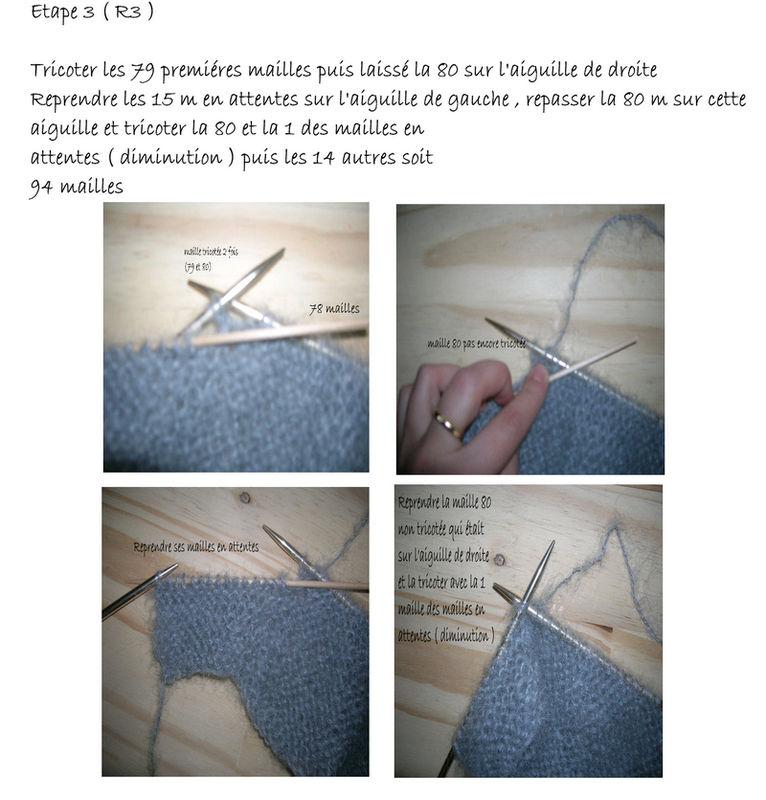 Comment tricoter les rangs raccourcis ?  vidéo Dailymotion