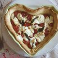 Les délices du weekend (1) tarte tomates cerise - chèvre frais - menthe