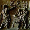 Détail du portail de l'église de la Madeleine.