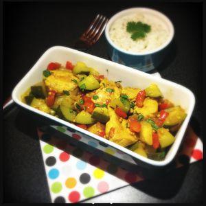 dinde au curry moutardé 1