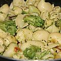 Pates au brocoli, citron parmesan