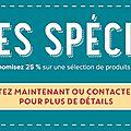 Offres spéciales !!