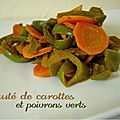 Saut de carottes et poivrons verts, au tandoori