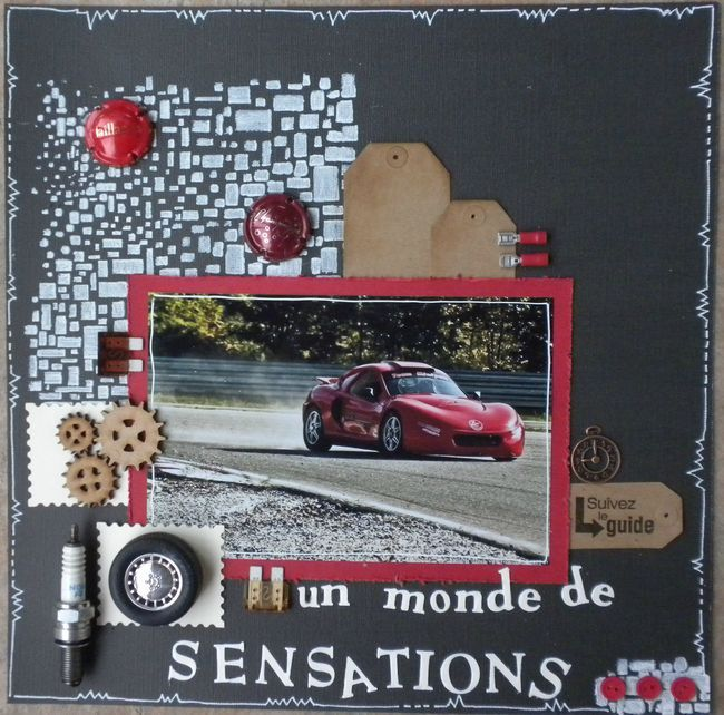 la voiture rouge annie scrap. Black Bedroom Furniture Sets. Home Design Ideas
