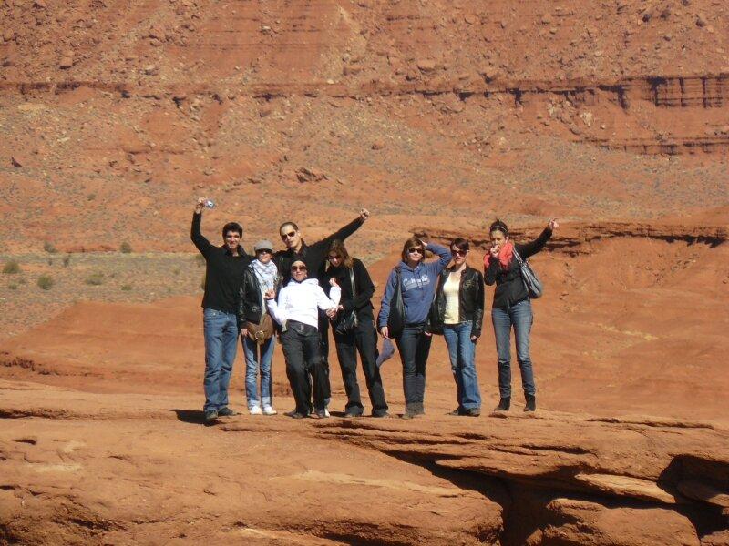 Monument Valley : Le groupe de la première jeep