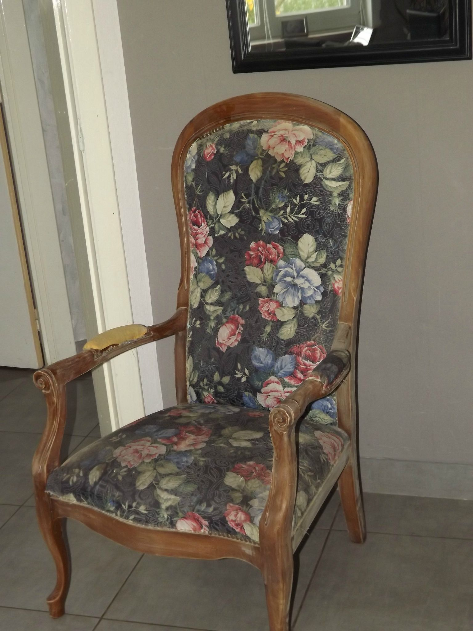 plaid fauteuil voltaire. Black Bedroom Furniture Sets. Home Design Ideas