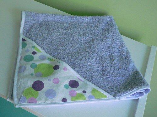 Sortie de bain en éponge et coton