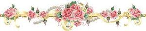 roses en frise