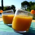 Crème fondante de carotte à l'orange, relevée de cumin
